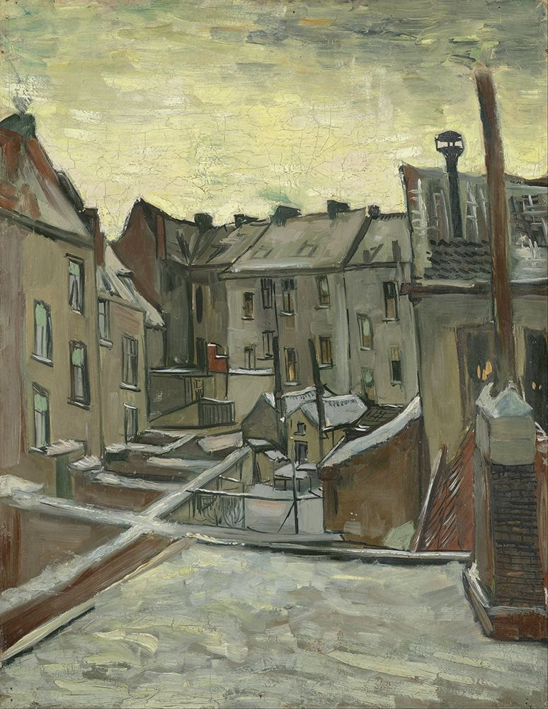 konfigurieren des Kunstdrucks in Wunschgröße Houses seen from the back von Van Gogh, Vincent