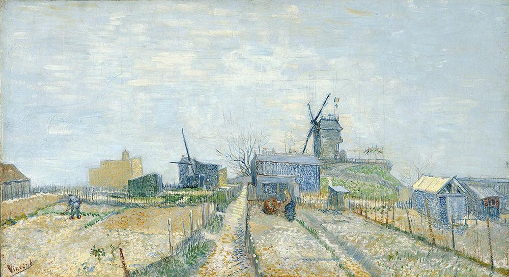 konfigurieren des Kunstdrucks in Wunschgröße Montmartre, mills and vegetable gardens von Van Gogh, Vincent