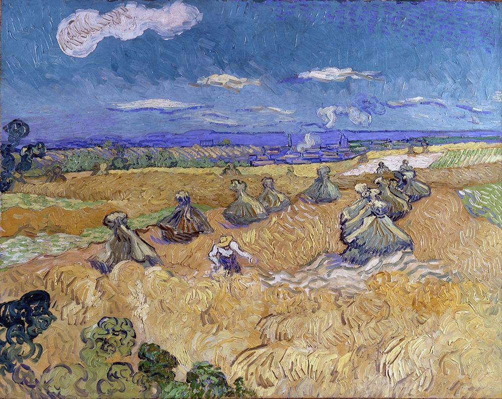 konfigurieren des Kunstdrucks in Wunschgröße Wheat Stacks with Reaper von Van Gogh, Vincent
