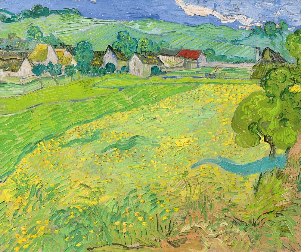 konfigurieren des Kunstdrucks in Wunschgröße View of Vessenots Near Auvers von Van Gogh, Vincent