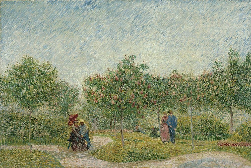 konfigurieren des Kunstdrucks in Wunschgröße Garden in Montmarte with lovers von Van Gogh, Vincent