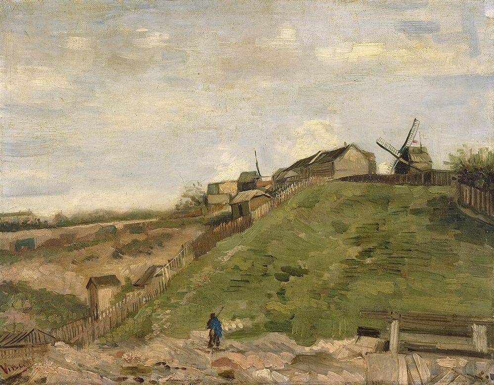 konfigurieren des Kunstdrucks in Wunschgröße The hill of Montmartre with stone quarry von Van Gogh, Vincent