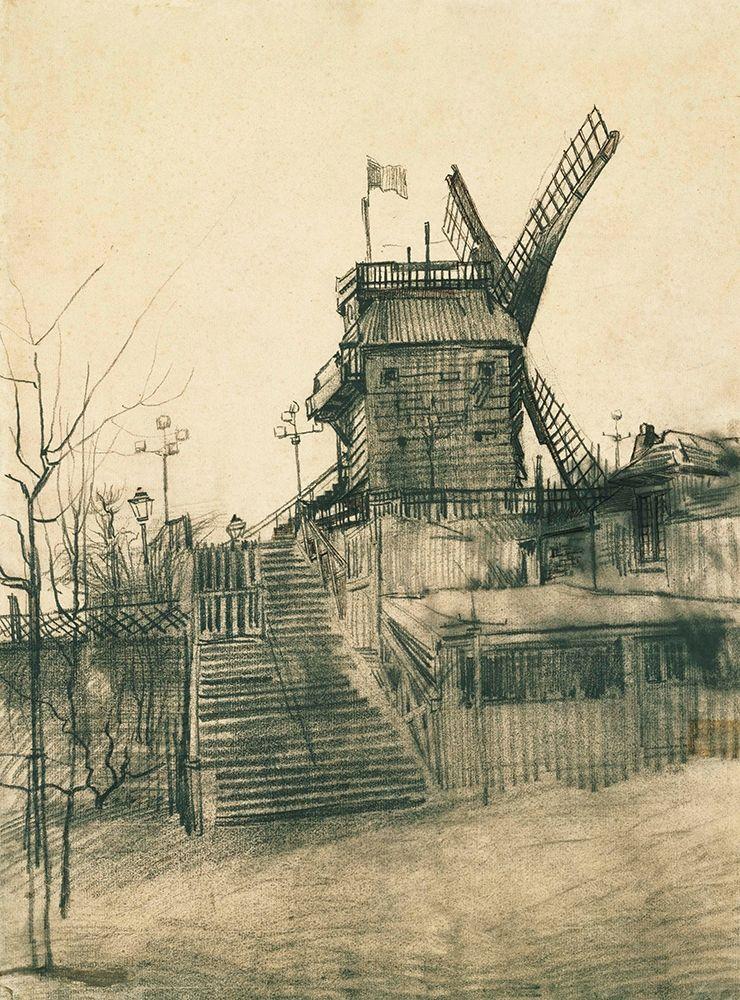 konfigurieren des Kunstdrucks in Wunschgröße Moulin de la Galette von Van Gogh, Vincent
