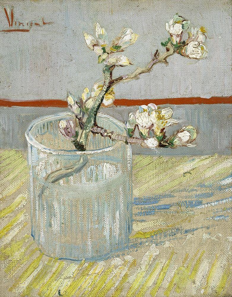 konfigurieren des Kunstdrucks in Wunschgröße Sprig of flowering almond in a glass von Van Gogh, Vincent
