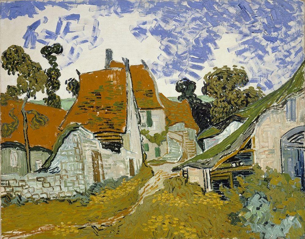 konfigurieren des Kunstdrucks in Wunschgröße Street in Auvers-sur-Oise von Van Gogh, Vincent