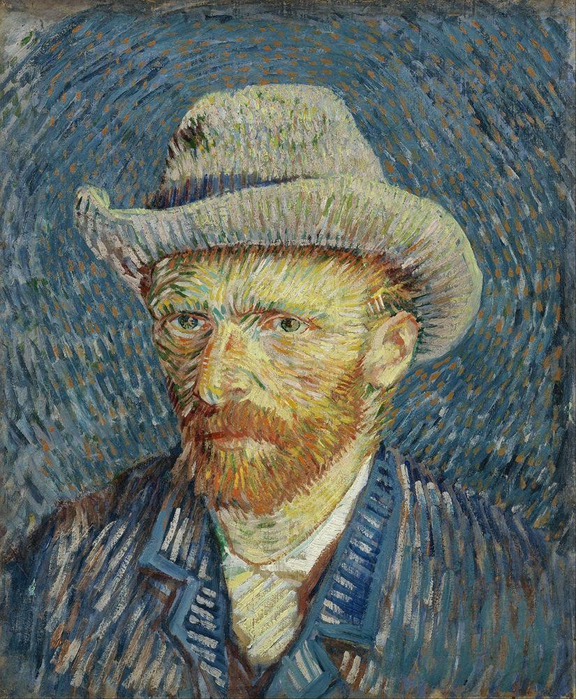 konfigurieren des Kunstdrucks in Wunschgröße Self-portrait with grey felt hat von Van Gogh, Vincent