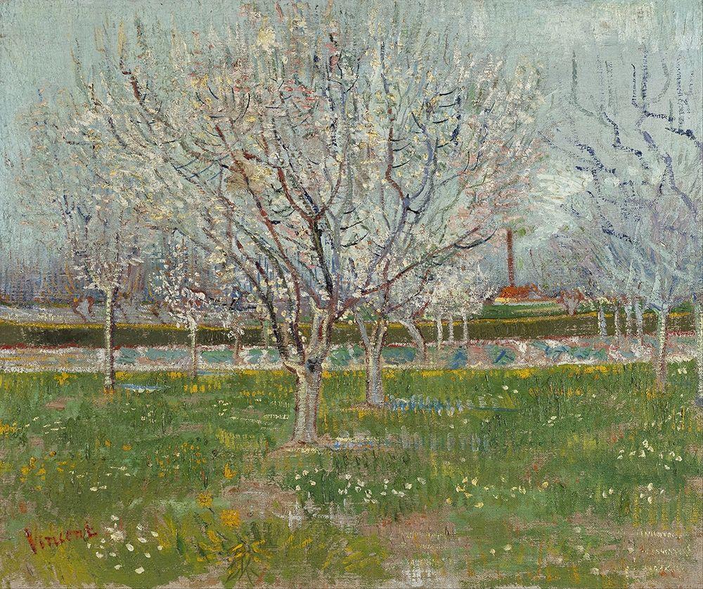 konfigurieren des Kunstdrucks in Wunschgröße Orchard in Blossom von Van Gogh, Vincent