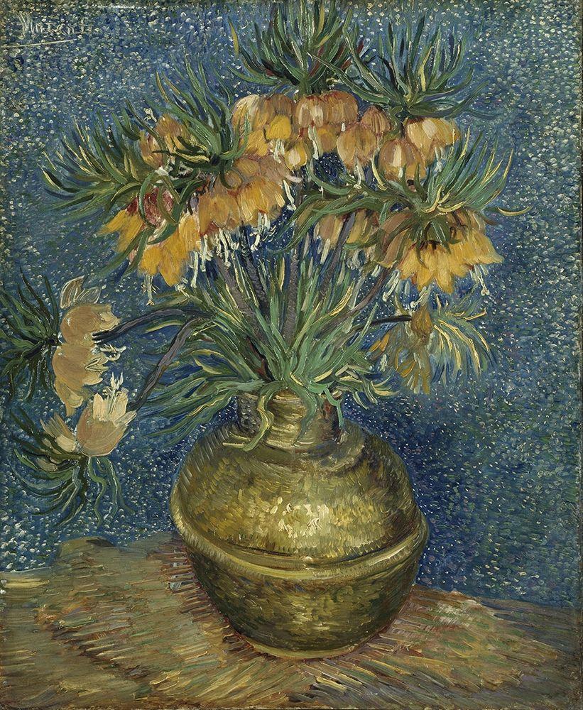 konfigurieren des Kunstdrucks in Wunschgröße Imperial Fritillaries in a Copper Vase von Van Gogh, Vincent