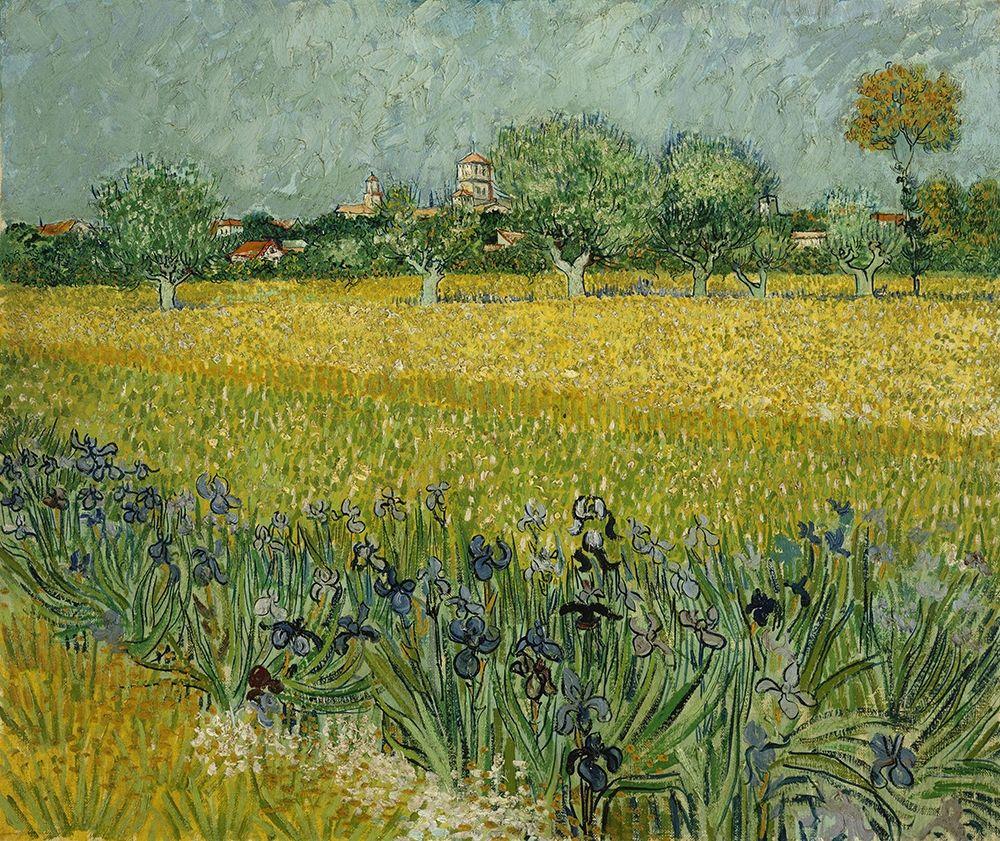 konfigurieren des Kunstdrucks in Wunschgröße Field with flowers near Arles von Van Gogh, Vincent