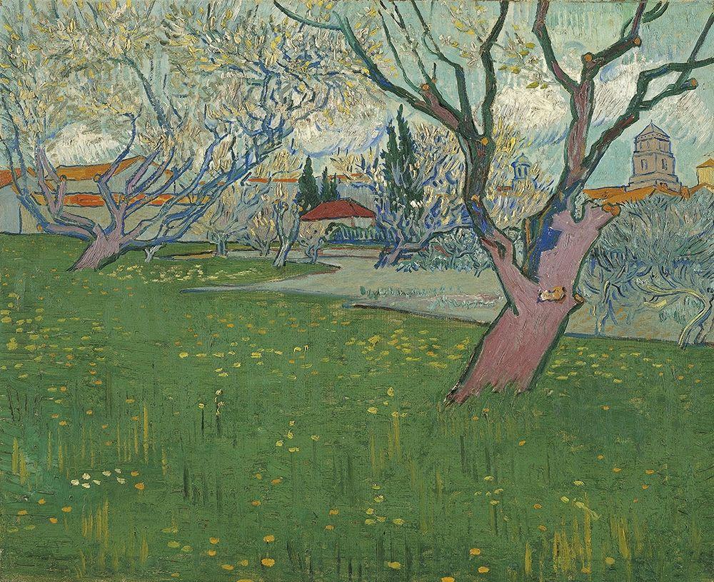 konfigurieren des Kunstdrucks in Wunschgröße Orchards in blossom, view of Arles von Van Gogh, Vincent