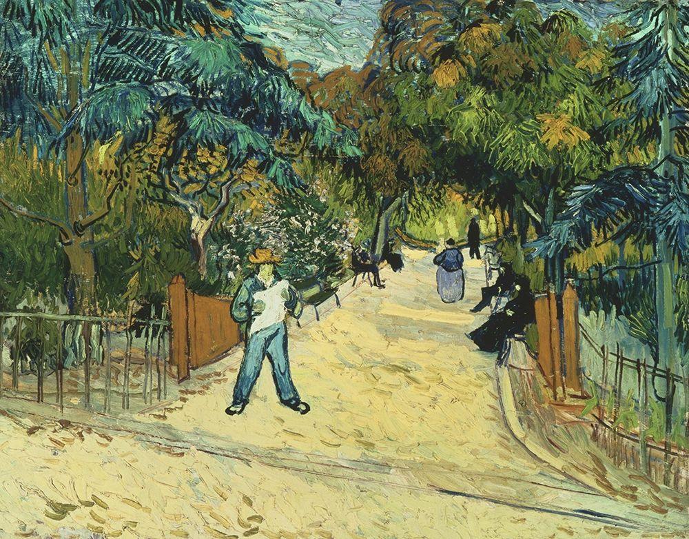 konfigurieren des Kunstdrucks in Wunschgröße Entrance to the Public Gardens in Arle von Van Gogh, Vincent