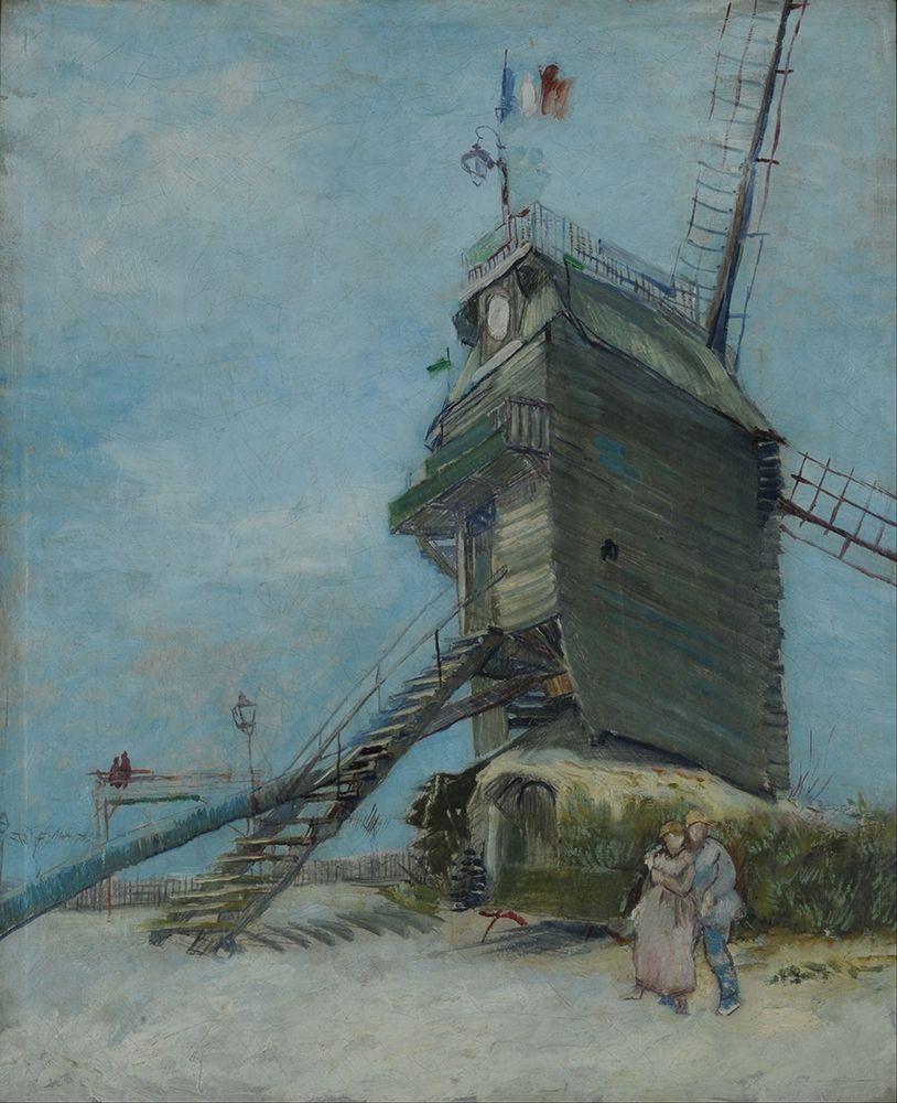 konfigurieren des Kunstdrucks in Wunschgröße Le Moulin de la Galette von Van Gogh, Vincent