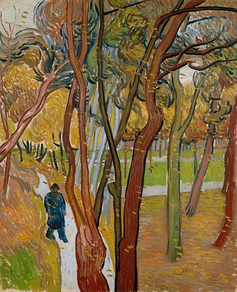 konfigurieren des Kunstdrucks in Wunschgröße The garden of Saint Pauls Hospital von Van Gogh, Vincent