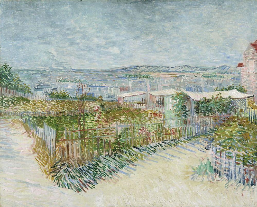 konfigurieren des Kunstdrucks in Wunschgröße Montmartre, behind the Moulin de la Galette von Van Gogh, Vincent