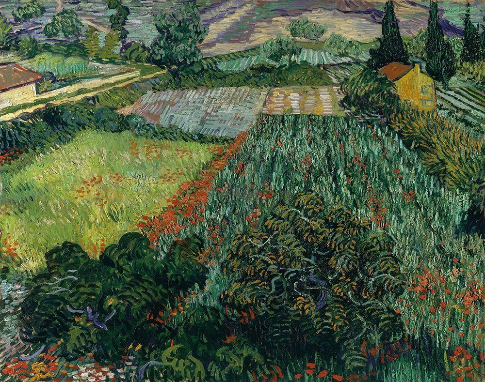 konfigurieren des Kunstdrucks in Wunschgröße Field with Poppies von Van Gogh, Vincent