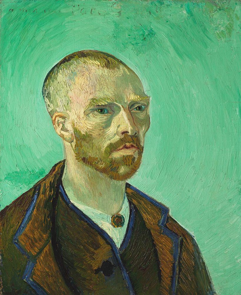 konfigurieren des Kunstdrucks in Wunschgröße Self Portrait, dedicated to Paul Gauguin von Van Gogh, Vincent