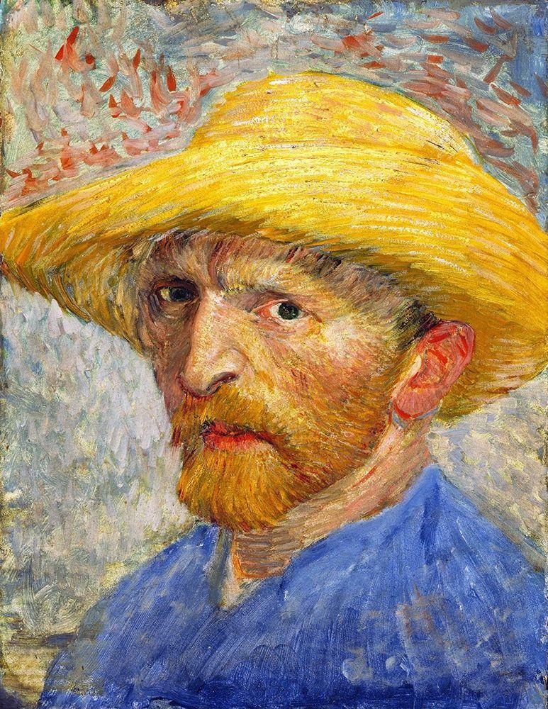konfigurieren des Kunstdrucks in Wunschgröße Self-portrait with Straw Hat von Van Gogh, Vincent