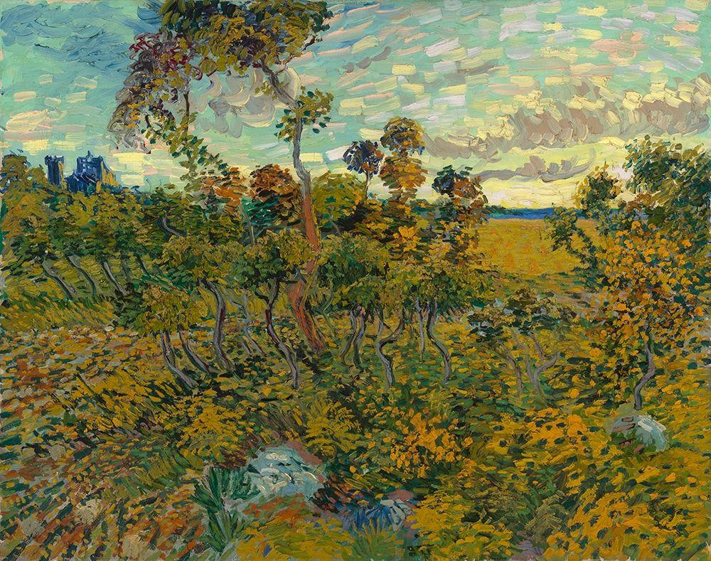 konfigurieren des Kunstdrucks in Wunschgröße Sunset at Montmajour von Van Gogh, Vincent