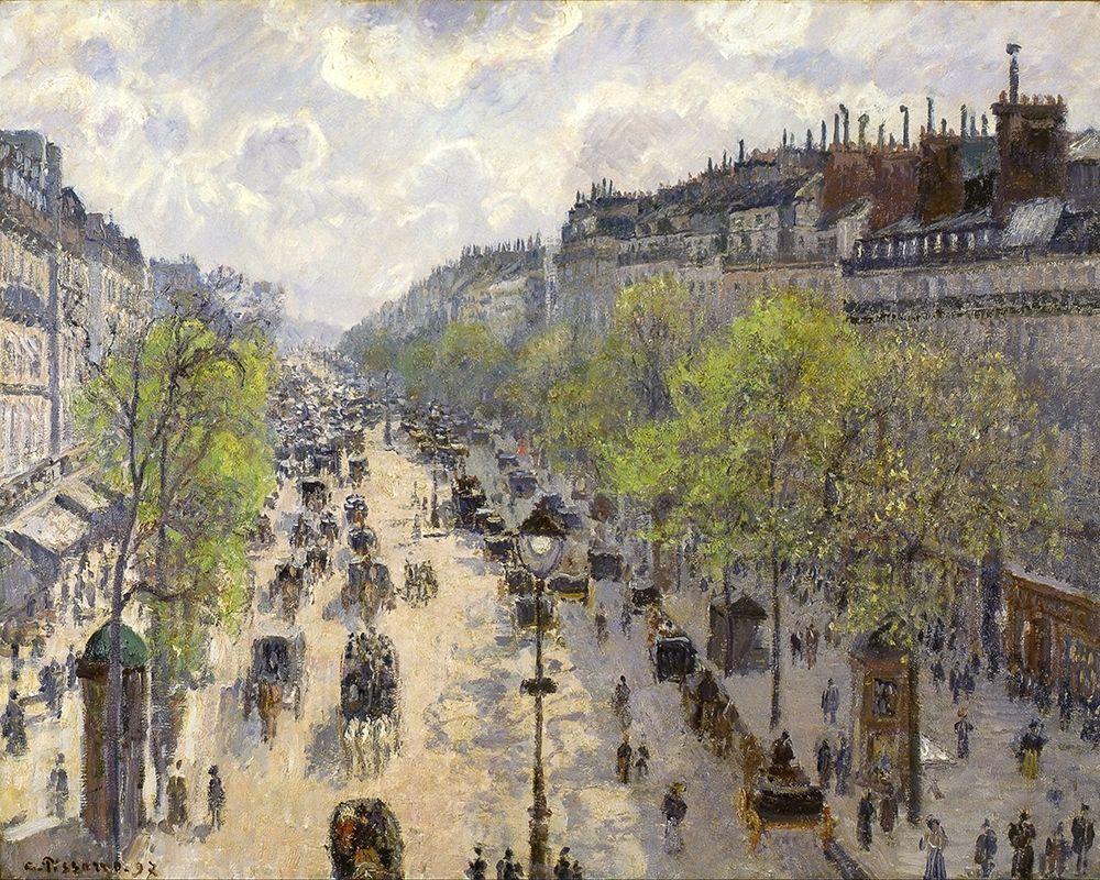 konfigurieren des Kunstdrucks in Wunschgröße Boulevard Montmartre, Spring von Pissarro, Camille