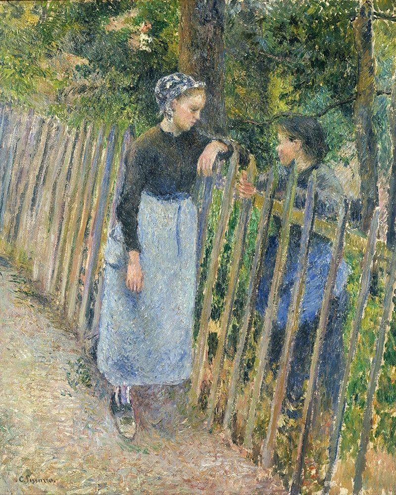 konfigurieren des Kunstdrucks in Wunschgröße Conversation von Pissarro, Camille