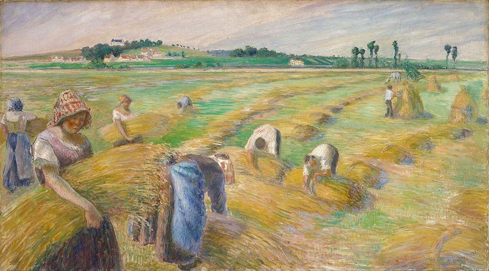 konfigurieren des Kunstdrucks in Wunschgröße The Harvest von Pissarro, Camille