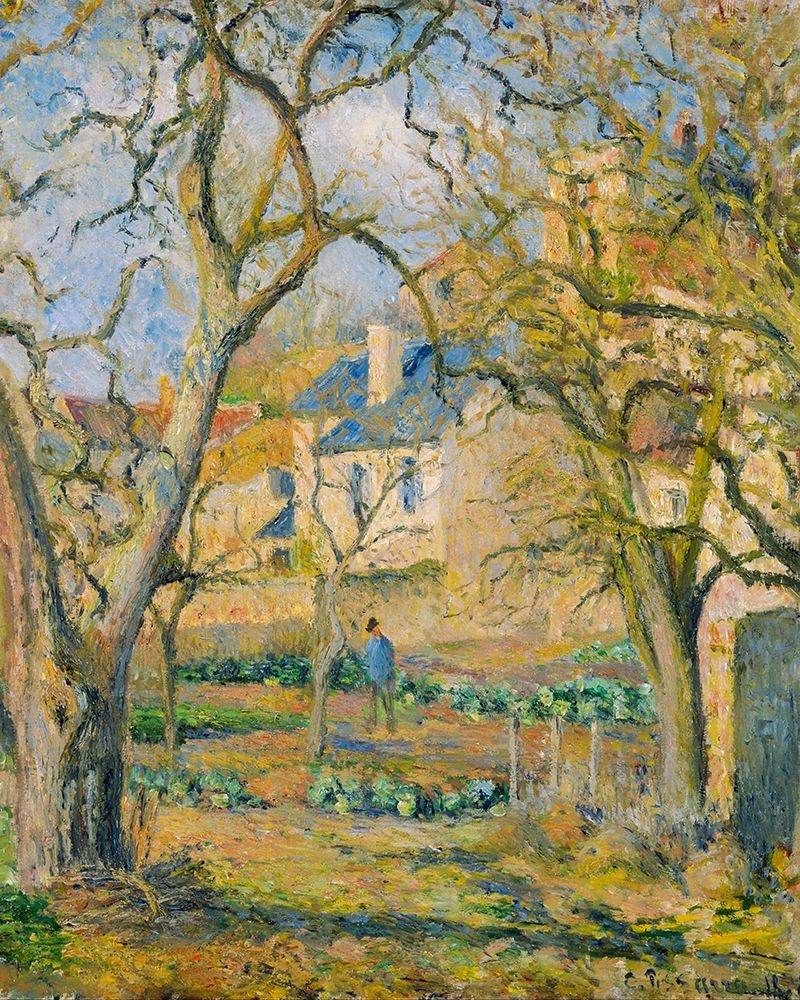 konfigurieren des Kunstdrucks in Wunschgröße Vegetable Garden von Pissarro, Camille