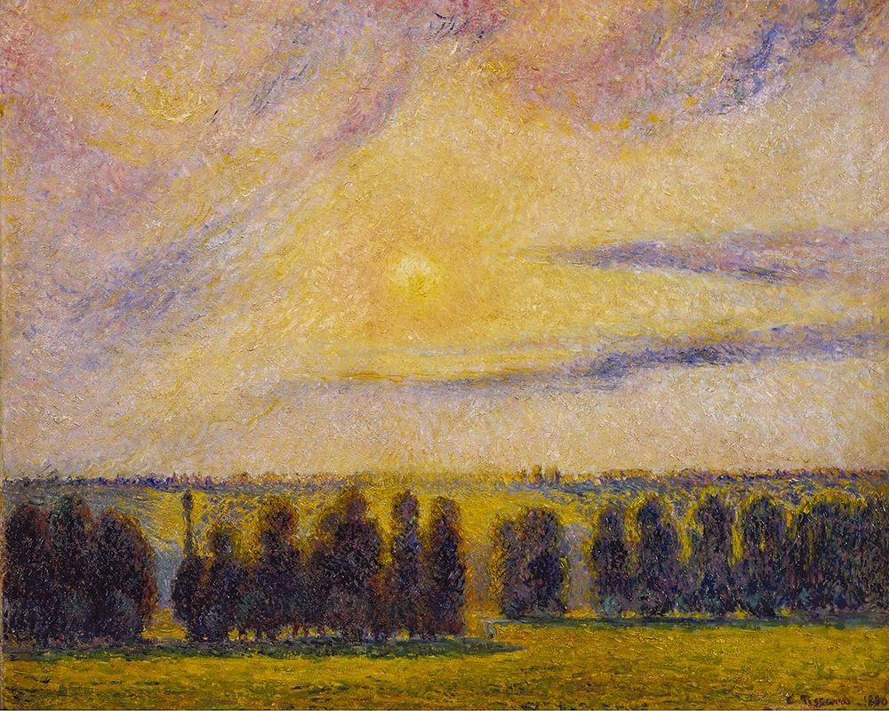 konfigurieren des Kunstdrucks in Wunschgröße Sunset at Eragny von Pissarro, Camille