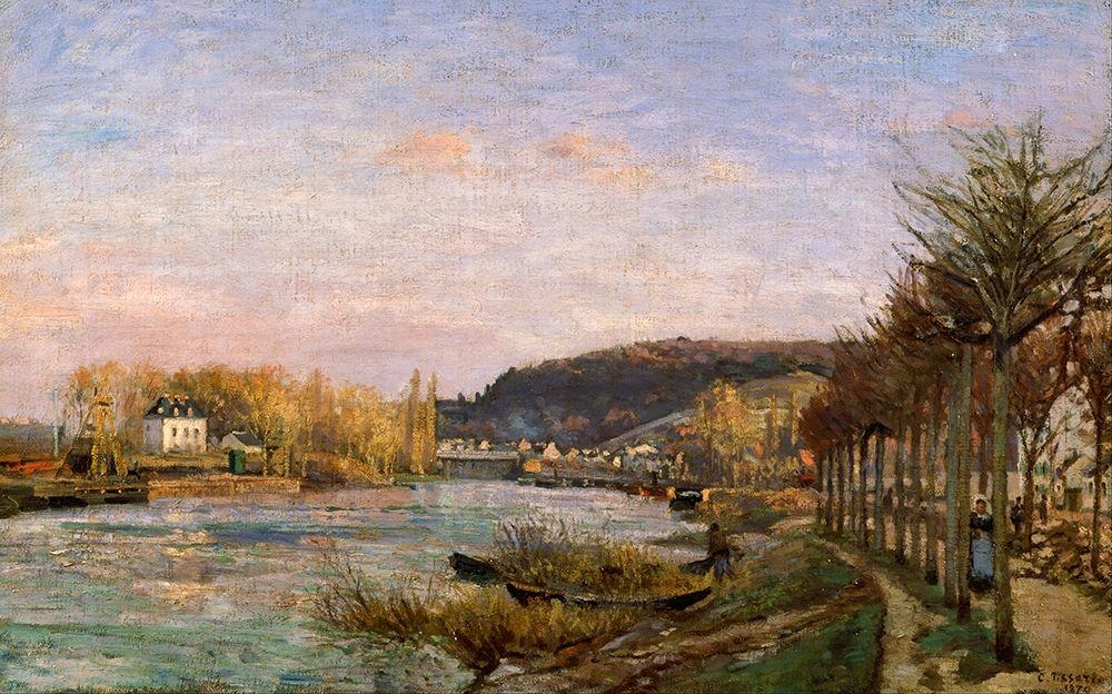 konfigurieren des Kunstdrucks in Wunschgröße The Seine at Bougival von Pissarro, Camille