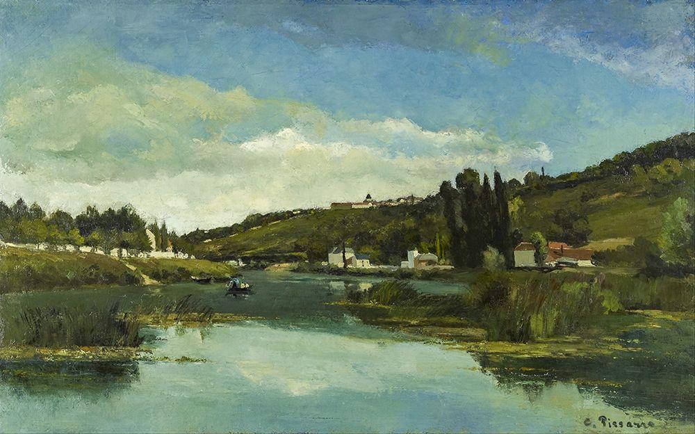 konfigurieren des Kunstdrucks in Wunschgröße The Marne at Chennevieres von Pissarro, Camille