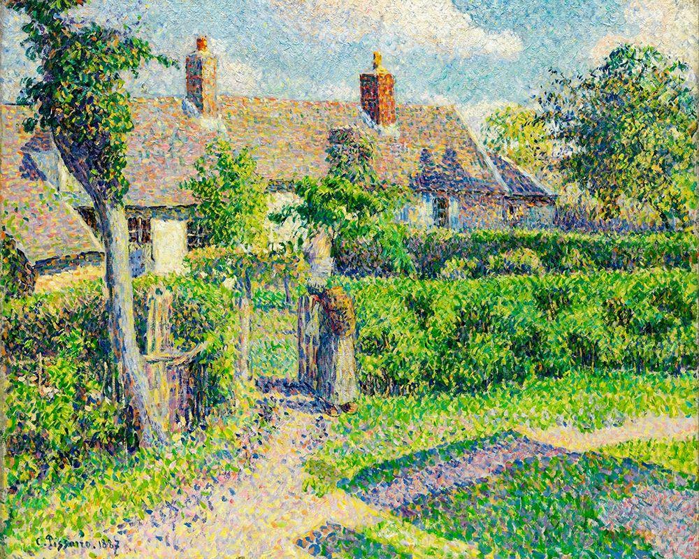 konfigurieren des Kunstdrucks in Wunschgröße Peasants houses, Eragny von Pissarro, Camille