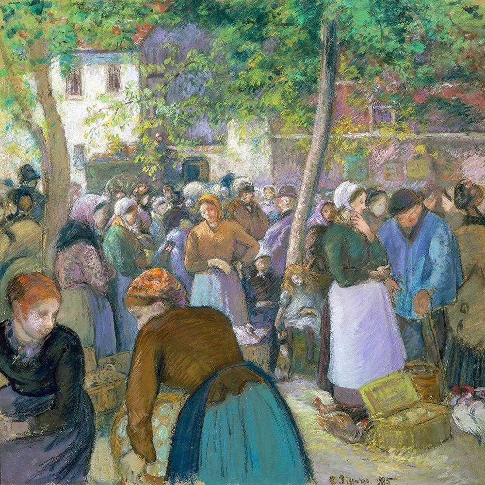 konfigurieren des Kunstdrucks in Wunschgröße Poultry Market at Gisors von Pissarro, Camille