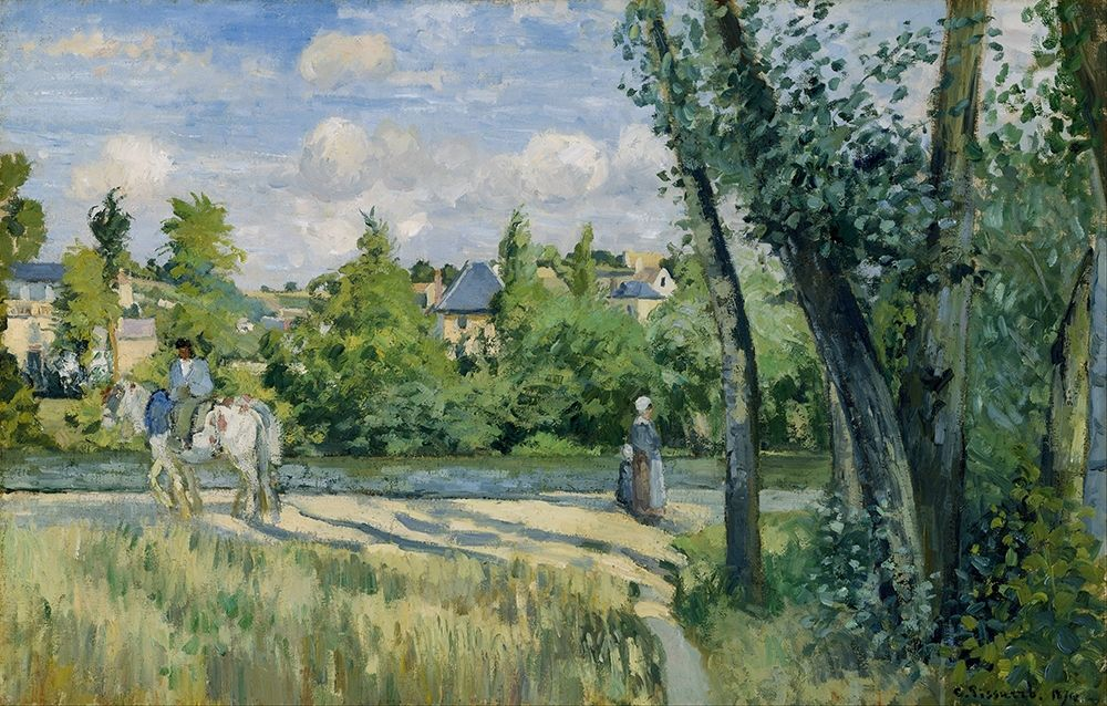 konfigurieren des Kunstdrucks in Wunschgröße Sunlight on the Road, Pontoise von Pissarro, Camille
