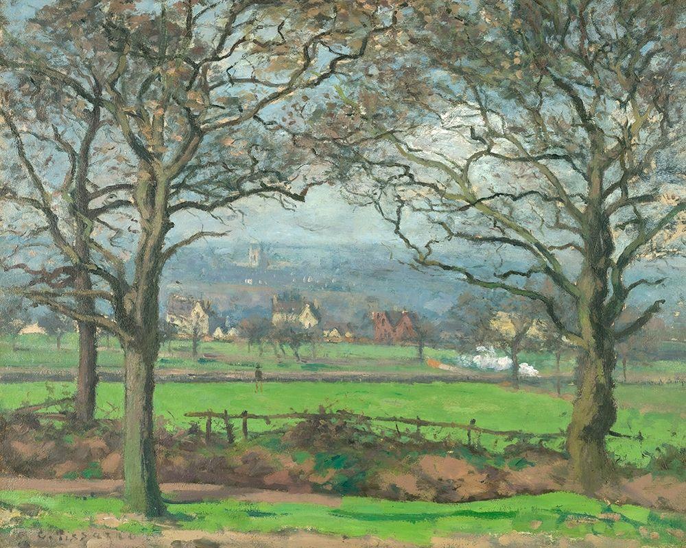konfigurieren des Kunstdrucks in Wunschgröße Near Sydenham Hill von Pissarro, Camille