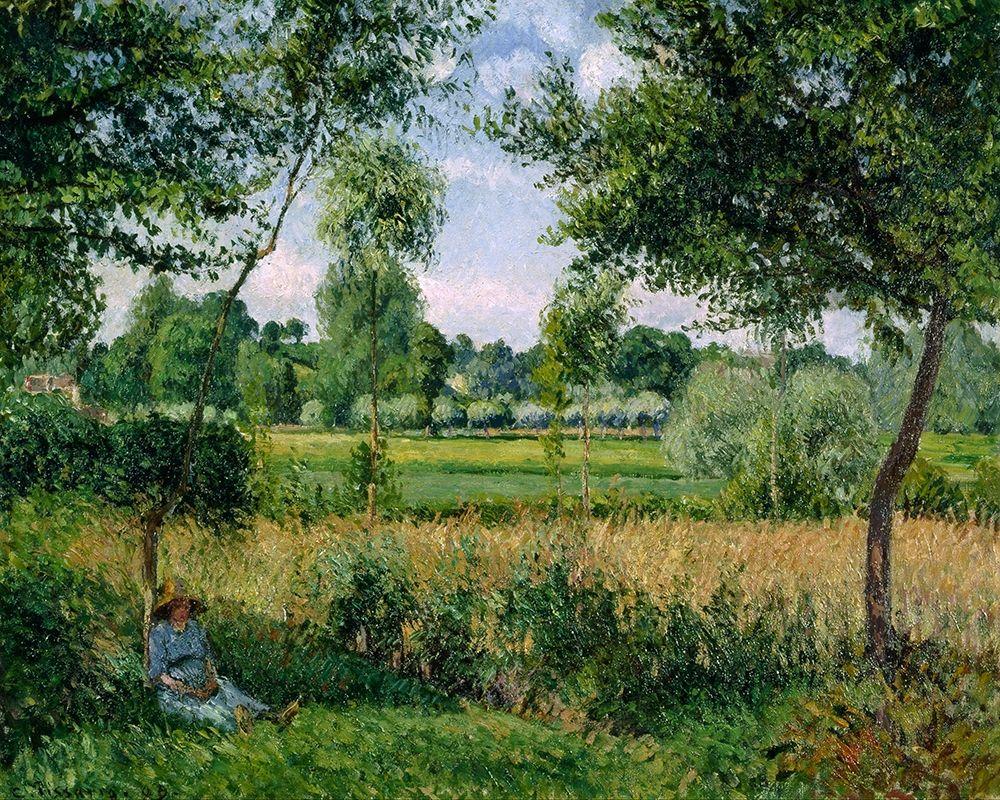 konfigurieren des Kunstdrucks in Wunschgröße Morning Sunlight Effect, Eragny von Pissarro, Camille