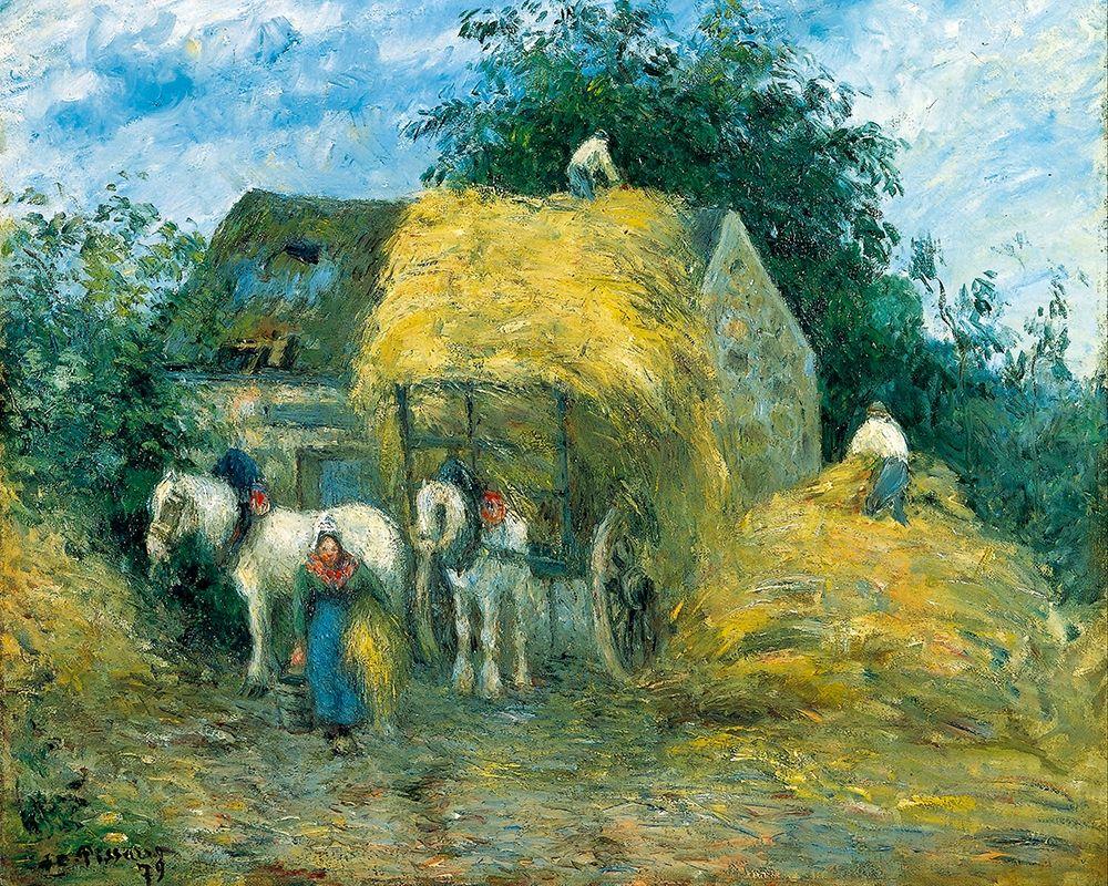 konfigurieren des Kunstdrucks in Wunschgröße The Hay Cart, Montfoucault von Pissarro, Camille