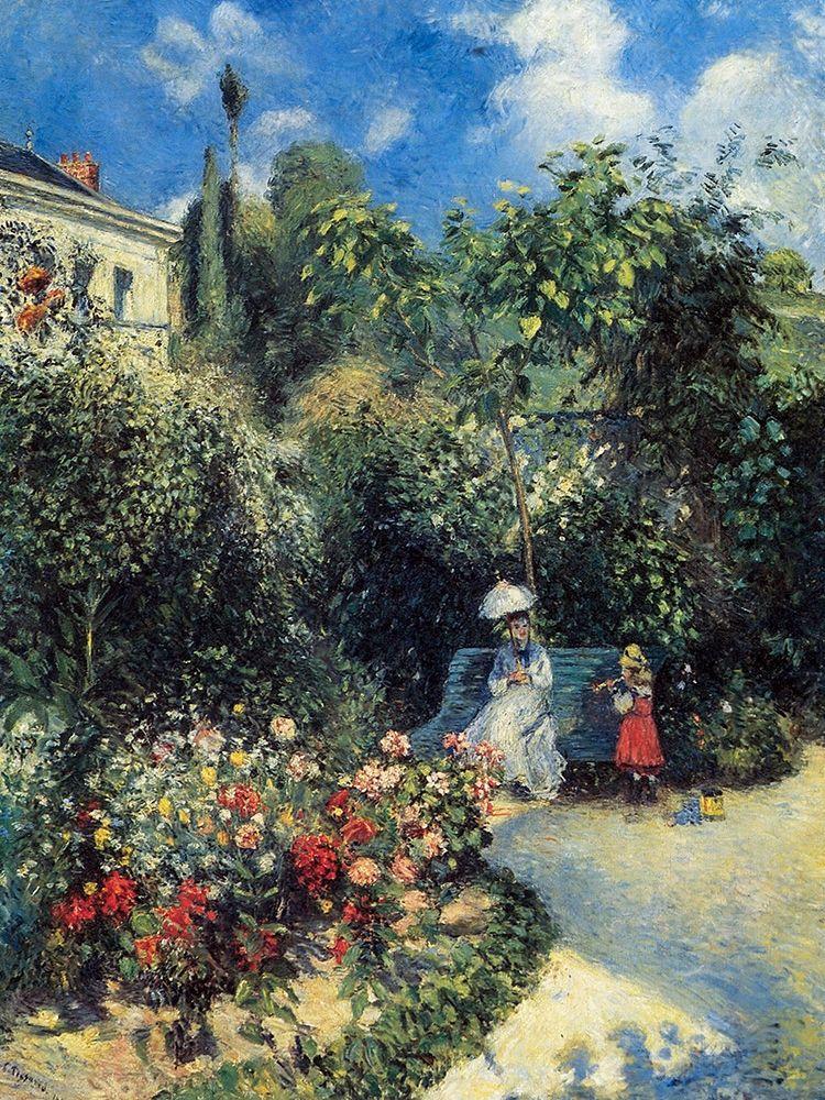 konfigurieren des Kunstdrucks in Wunschgröße In the Garden of Les Mathurins at Pontoise von Pissarro, Camille