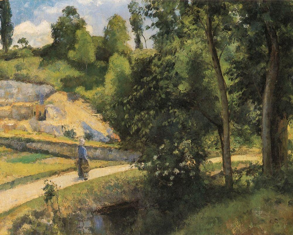 konfigurieren des Kunstdrucks in Wunschgröße The Quarry, Pontoise von Pissarro, Camille