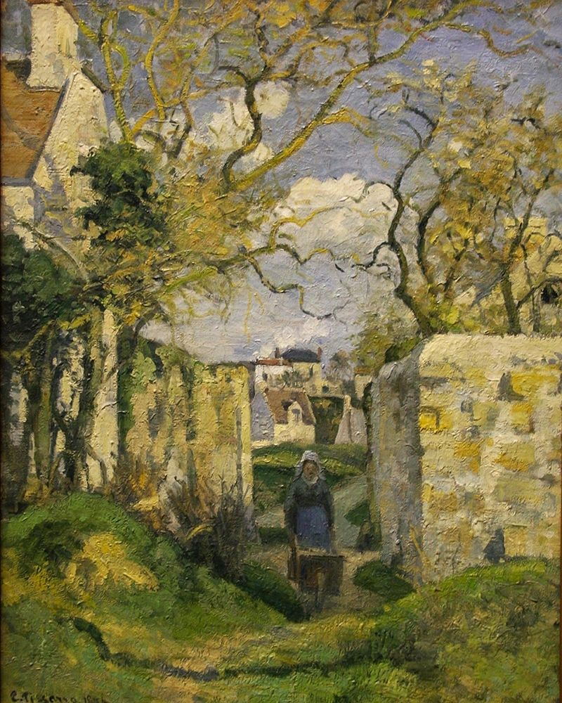 konfigurieren des Kunstdrucks in Wunschgröße Landscape from Pontoise von Pissarro, Camille