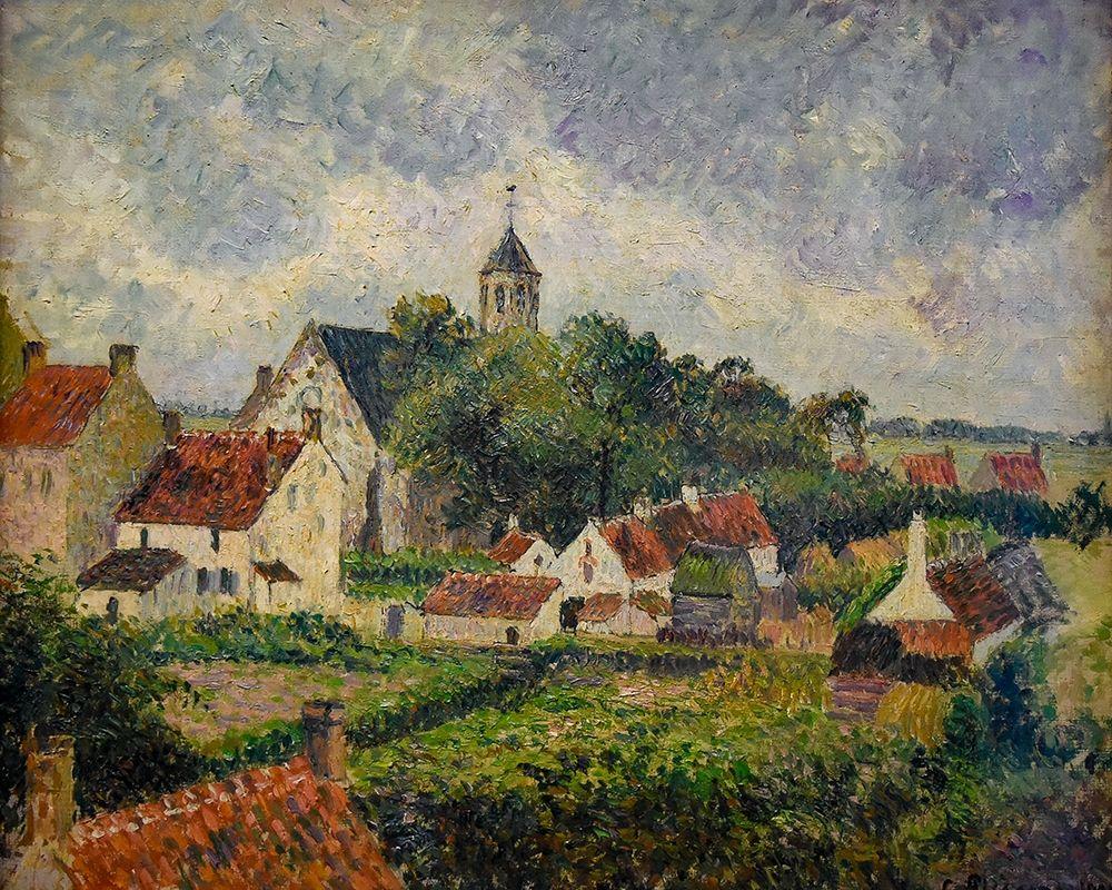 konfigurieren des Kunstdrucks in Wunschgröße The village of Knokke von Pissarro, Camille
