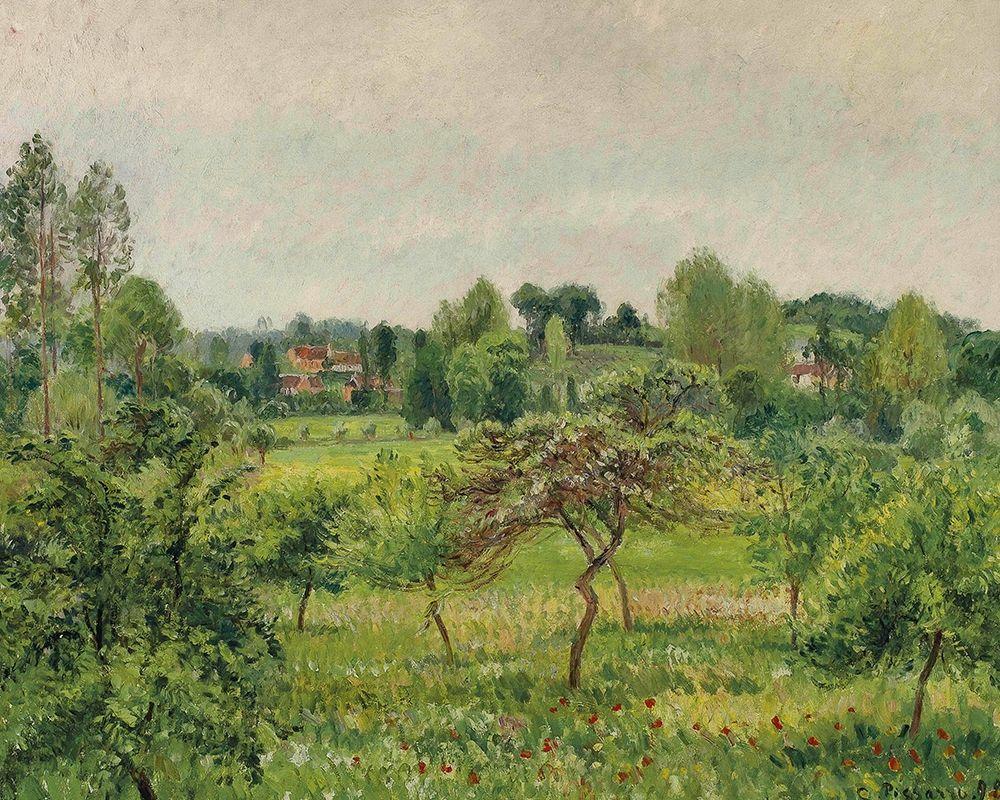 konfigurieren des Kunstdrucks in Wunschgröße June, rainy weather, Eragny von Pissarro, Camille