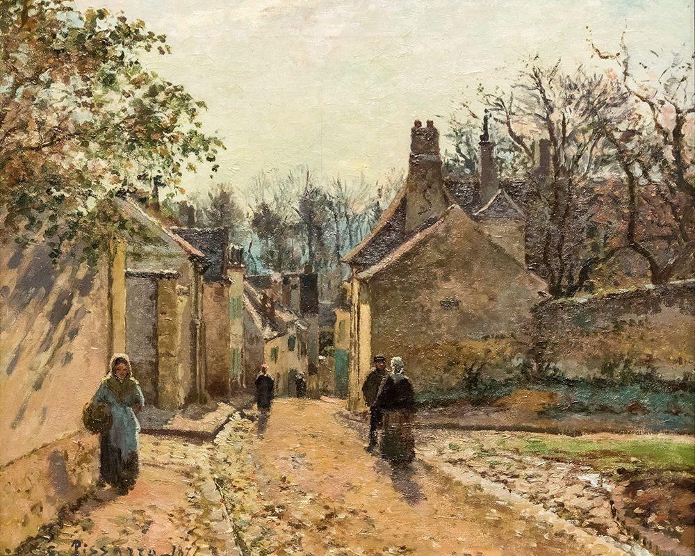 konfigurieren des Kunstdrucks in Wunschgröße Voisins Street von Pissarro, Camille