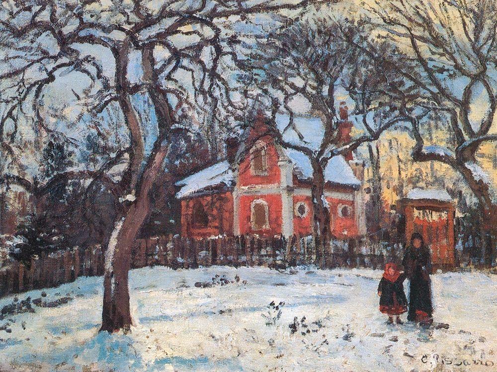 konfigurieren des Kunstdrucks in Wunschgröße Chestnut trees in Louveciennes von Pissarro, Camille