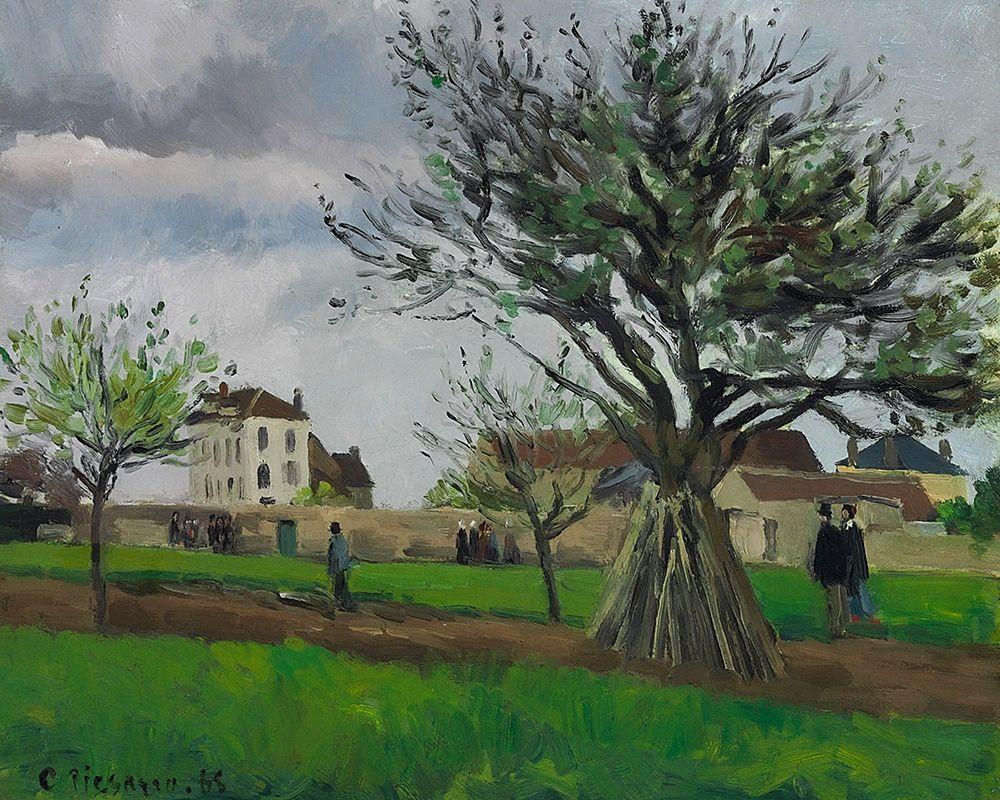 konfigurieren des Kunstdrucks in Wunschgröße Apple Trees at Pontoise, the House of Pere Gallien von Pissarro, Camille