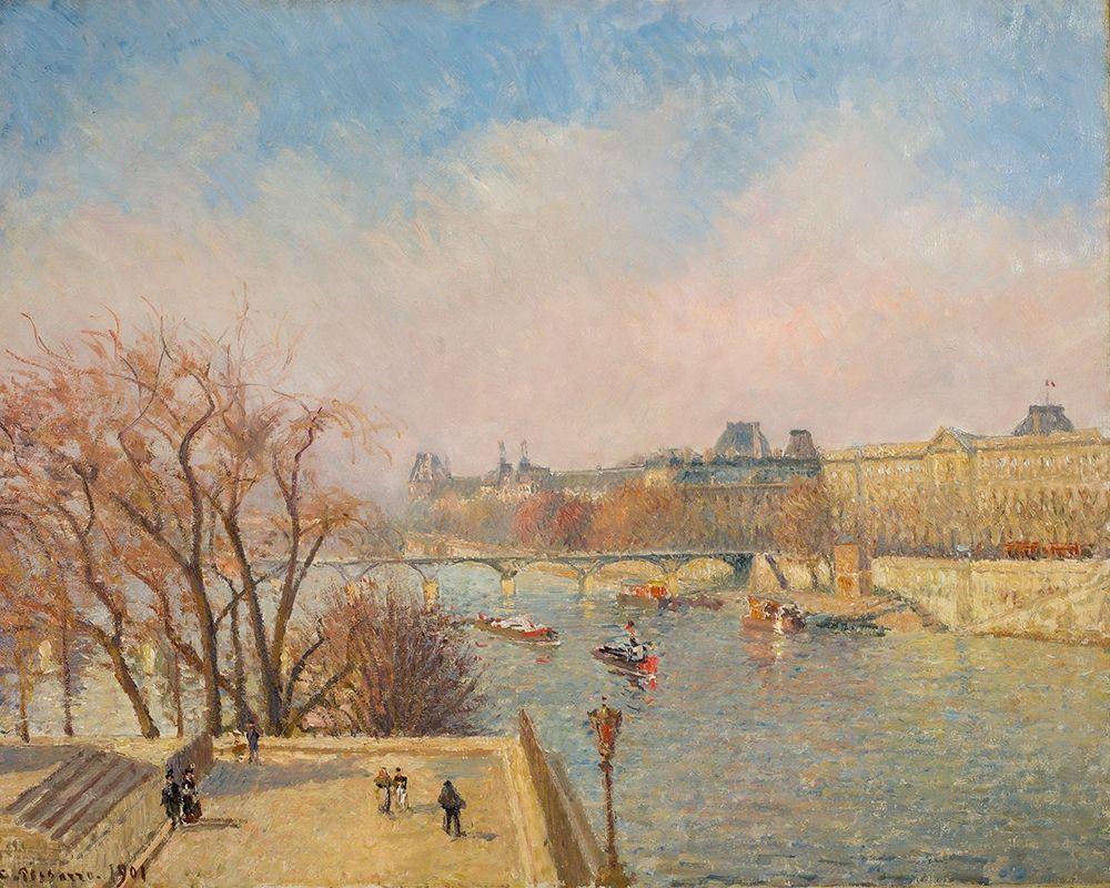 konfigurieren des Kunstdrucks in Wunschgröße The Louvre, Morning, Sunlight┬á von Pissarro, Camille
