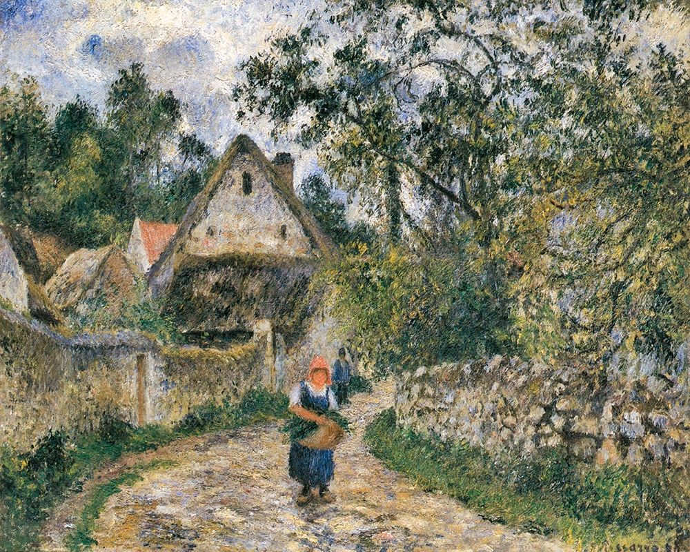 konfigurieren des Kunstdrucks in Wunschgröße Cottages at Le Valhermeil, Auvers-sur-Oise von Pissarro, Camille