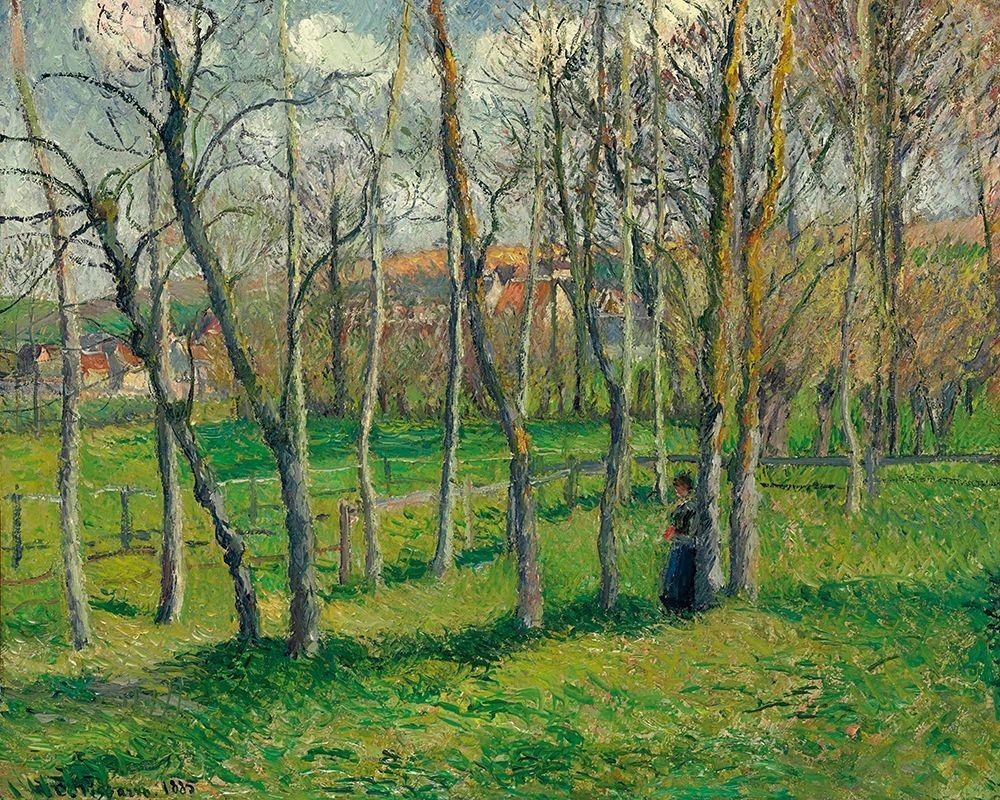 konfigurieren des Kunstdrucks in Wunschgröße Prairie de Bazincourt von Pissarro, Camille