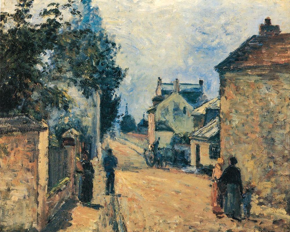 konfigurieren des Kunstdrucks in Wunschgröße La Rue de L┬┤Hermitage, Pontoise von Pissarro, Camille