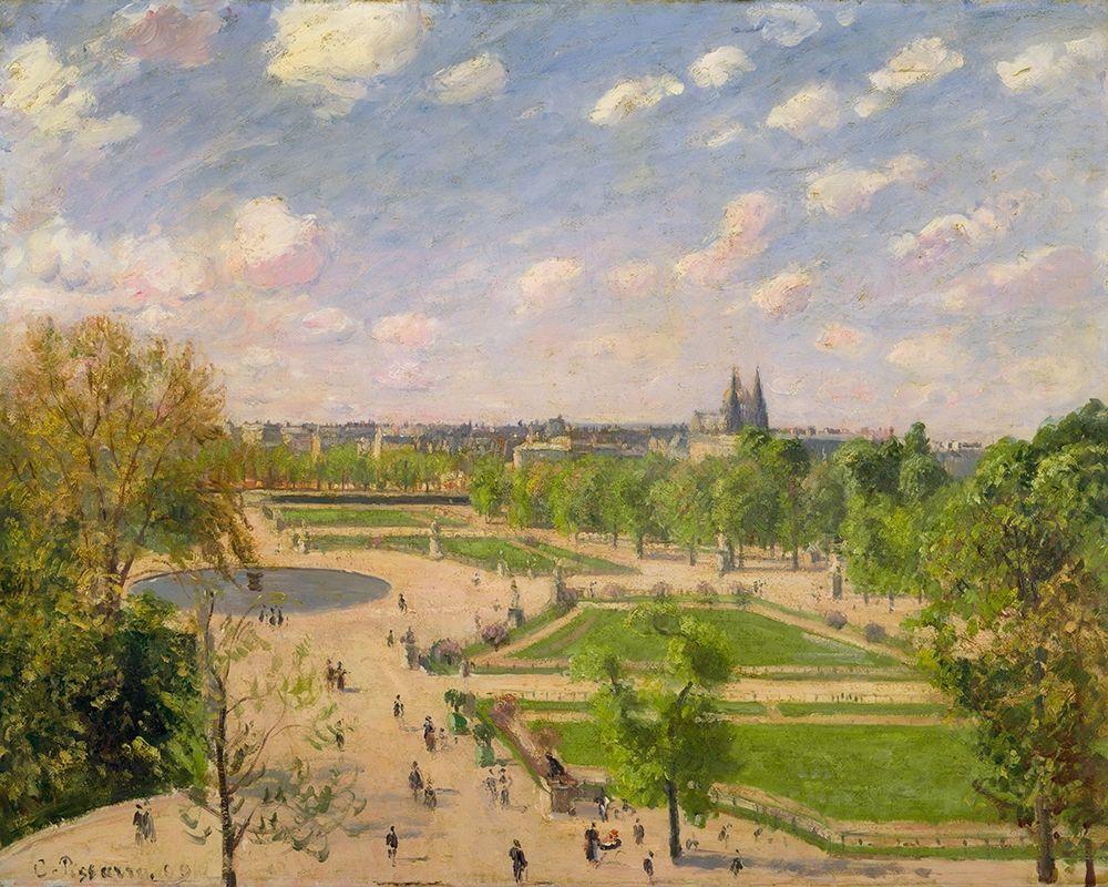 konfigurieren des Kunstdrucks in Wunschgröße The Garden of the Tuileries on a Spring Morning von Pissarro, Camille