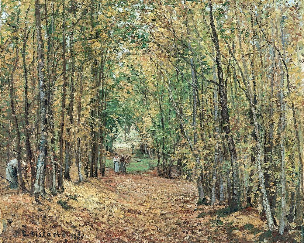 konfigurieren des Kunstdrucks in Wunschgröße Avenue in the Parc de Marly von Pissarro, Camille
