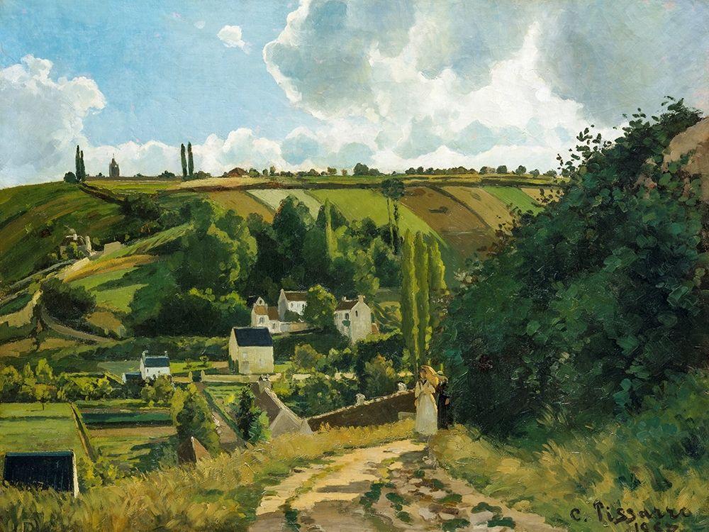 konfigurieren des Kunstdrucks in Wunschgröße La Cote du Jallais Pontoise von Pissarro, Camille